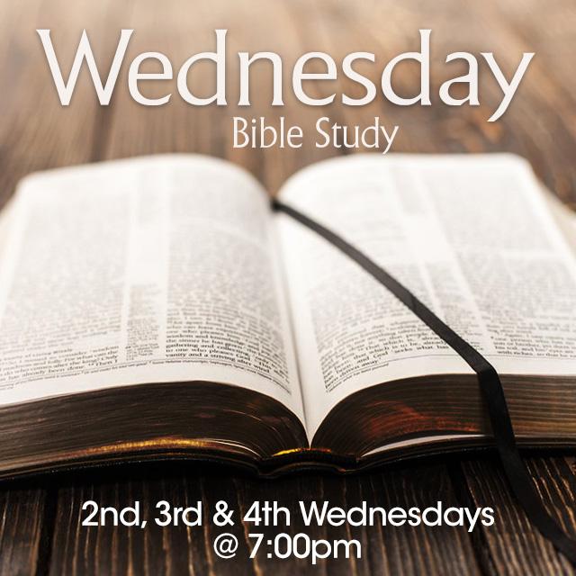 Wednesday Bible Study 7pm